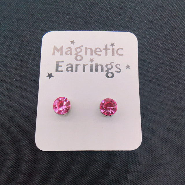 1 Pair Punk Stainless Steel Magnetic Ear Studs 6MM Round Colorful Crystal Strong Magnet Health Care.jpg 640x640 - 1 Pair Punk Stainless Steel Magnetic Ear Studs 6MM Round Colorful Crystal Strong Magnet Health Care No Hole Piercing Earrings