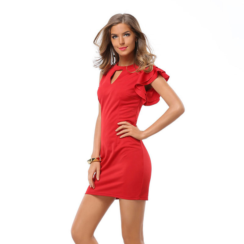 48151443588 Western style S XXL fashion women summer dress 2016 new design vogue lady mini  vestidos girls butterfly sleeve casual dresses-in Dresses from Women s ...