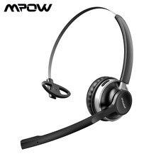 Mpow-auriculares inalámbricos HC3 con Bluetooth, dispositivo de audio Manos libres, con micrófono, cancelación de ruido, transparente, cristal Dual, para centro de llamadas