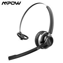 Mpow HC3 유선/무선 헤드폰 블루투스 핸즈프리 헤드폰, 듀얼 크리스탈 클리어 노이즈 캔슬링 마이크, 콜 센터 용