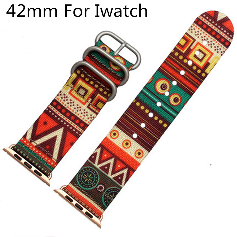 Canvas Sport Apple Watch Belt, Nylon 42MM Apple Watch Strap Watchband ,For Iwatch Apple Watch With Adapter canvas sport apple watch belt nylon 42mm apple watch strap watchband for iwatch apple watch with adapter