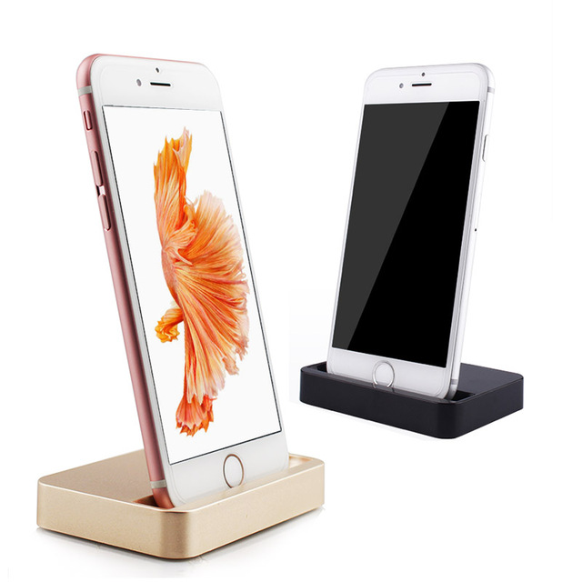For iPhone 7 Plus Charger Dock Data Sync USB Cradle Charging Dock Station For iPhone SE 5 5S 5c 6 6s plus iPod Holder Stand