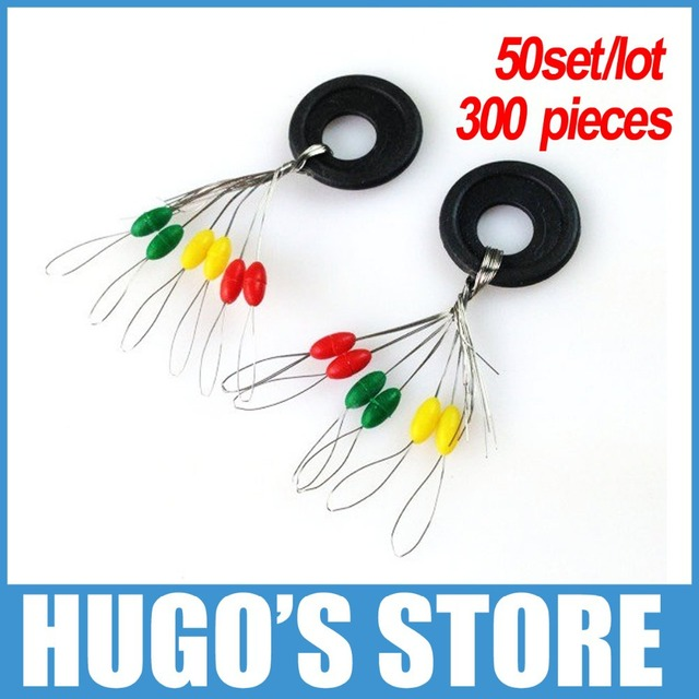 LY1121 (50 set/lot ) multiple color (green, yellow, red) Fishing Float Bobbers Rubber stopper bean fishing accessories wholesale