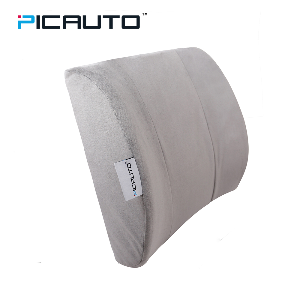PIC AUTO Lumbar Car Seat Back Support Cushion Orthopedic Firmness Design for Lower Back Pain Relief Polyester/Cotton Car-styling