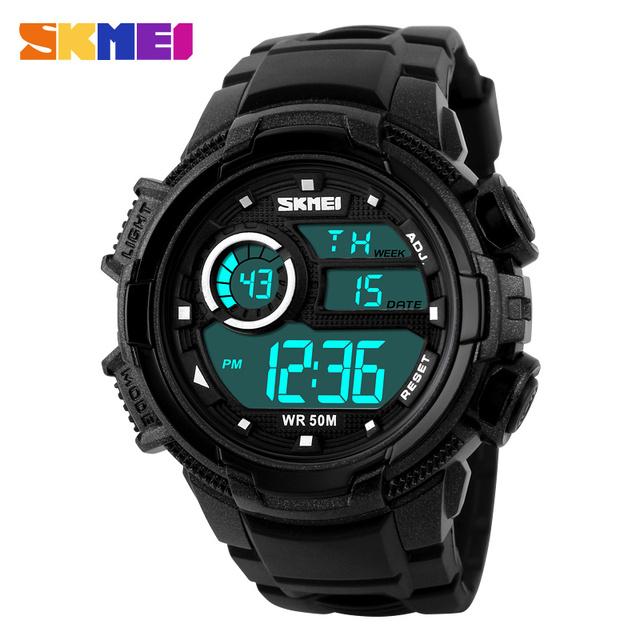 SKMEI Marca Hombres Deportes Relojes LED Digital Reloj Militar Al Aire Libre de Natación de Moda de Alarma Relojes de Pulsera Relogio masculino