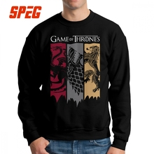 Game Of Thrones Sweatshirts House Stark Targaryen Lannister Man Awesome Cotton Crew Neck Pullovers Normal Hoodies for Male
