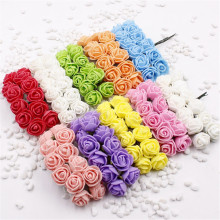 12 pcs Mini Foam Rose Artificial Flowers For Home Wedding