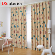 DSinterior cartoon design kids room curtain for children custom made size
