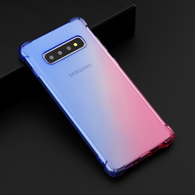 Four angle airbag cover for samsungS8 case S8plus soft tpu fundas for samsungS9 S9plus S7 S7edge S10 5G S10plus Note8 Note9 case in Fitted Cases from Cellphones Telecommunications