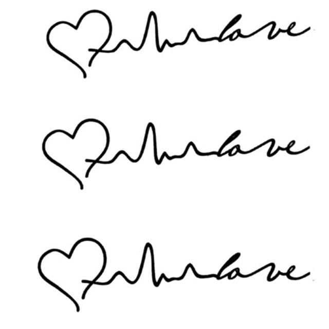Us 018 Moda Nowe Trendy Electrocardiogram Sztuka Tymczasowe Tatuaże Heart Shaped Wodoodporna Tymczasowa Tatuaż Spadek Zakupów W Moda Nowe Trendy