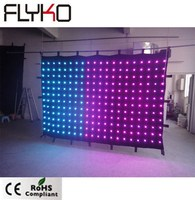 P15 2mX3m commercial showing led display video blackdrop led video curtain