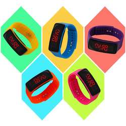 LinTimes простая детская силиконовые часы Electric светодиодный цифровой наручные часы орнаментом подарок