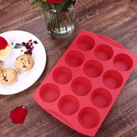 Liflicon Silicone Baking Cake Mold Fondant Decorating Cake Tools Form Tray Tin Cupcake Mold 12 Cup