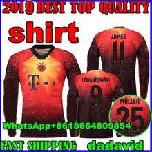 long sleeve Bayern Munich 4th EA SPORTS JAMES Soccer jerseys 2018 2019  LEWANDOWSKI MULLER KIMMICH 18 19 HUMMELS Football shirt 685e1276a