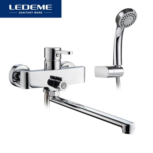 Online Shop Ledeme Bathroom Bathtub Faucets Shower Set Mixer Tap
