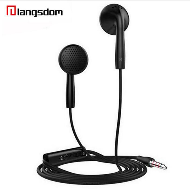 Langsdom IN2 Flat Head Earphone 3.5mm Earbuds Super Bass Headsets with microphone for iphone for xiaomi for samsung phone G5-003 original brand headphone langsdom jv23 jm23 earphone headsets super bass with mic for mobile phone auriculares pc