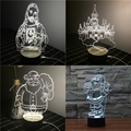 Creative Child Gift Lamp 3D Nightlight USB LED Table Desk Lampada As Home Decor Bedroom Reading Light Christmas 014-3
