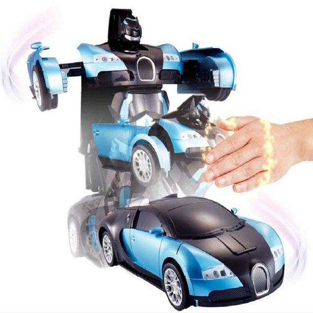 Продаж роскошный Sportscar модели жест деформации робот трансформация пульт дистанционного управления RC автомобиль игрушки детям подарок бесплатная доставка
