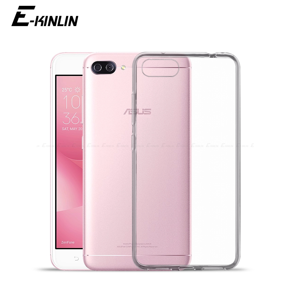 Clear Ultra Thin Silicone Back <font><b>Cover</b></font> <font><b>For</b></font> <font><b>Asus</b></font> <font><b>ZenFone</b></font> 4 Max Pro Plus ZS551KL <font><b>ZE554KL</b></font> ZC554KL ZC520KL Shockproof TPU Phone Case image