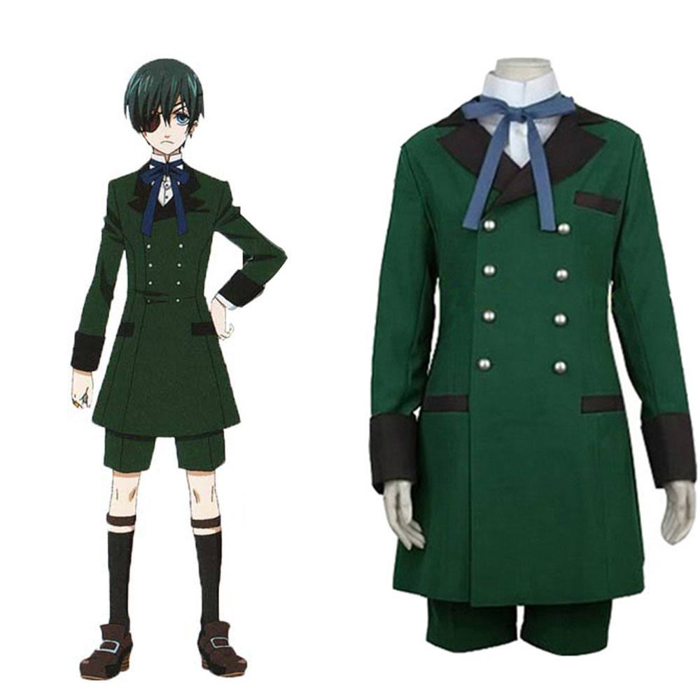 Black Butler Ciel Phantomhive Cosplay Costume Full Set Halloween Costumes