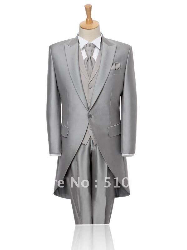 Aliexpress.com : Buy Free shipping custom made bright silk grey ...