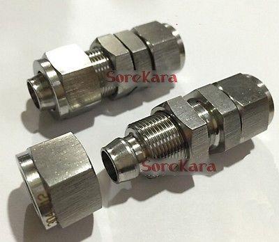304 перегородка из нержавеющей стали Qucik fit трубный фитинг под шланг разъем адаптера для 6 мм/4 мм OD/ID шланг рабочее давление 2,5 МПа