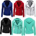 Fashion Women Hooded Jacket Long Sleeve Hoodies Sweatshirts Zipper Coat  Slim Casual Jacket outwear Autumn S