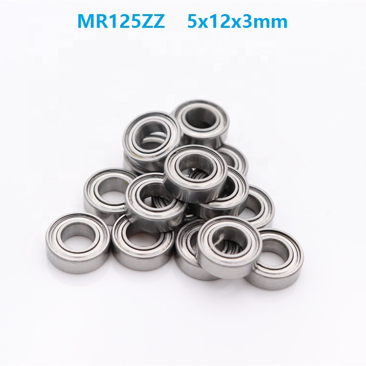 50pcs/100pcs/500pcs MR125 ZZ MR125ZZ MR125Z 5x12x3 mm Miniature deep groove Ball Bearing double shielded 5*12*3mm50pcs/100pcs/500pcs MR125 ZZ MR125ZZ MR125Z 5x12x3 mm Miniature deep groove Ball Bearing double shielded 5*12*3mm