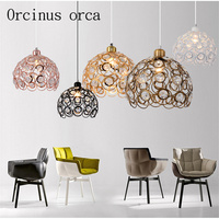 Pardal Nordic vento Industrial lâmpada de cristal restaurante café bar estudo lâmpada de cristal frete grátis