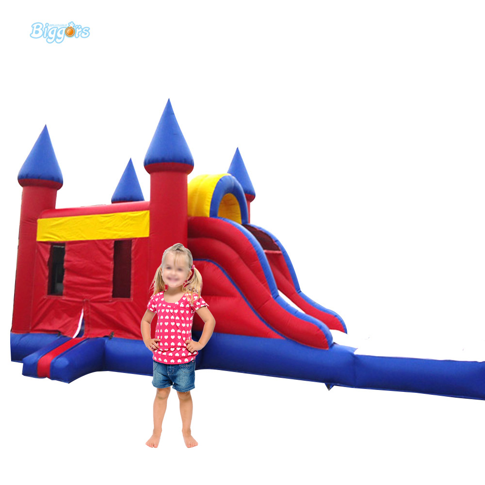 Outdoor Commercial Inflatable Bouncy House Combo Bounce Slide With Pool For Sale