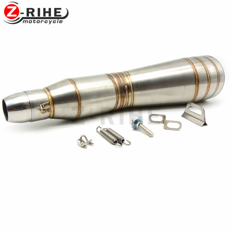 for Universal 36-51mm Motorcycle Accessories cnc Exhaust Stainless Steel Motorbike Exhaust Pipe For Yamaha FZ6 FAZER FZ6R FZ8 MT for universal 36 51mm motorcycle accessories cnc exhaust stainless steel motorbike exhaust pipe for yamaha fz6 fazer fz6r fz8 mt
