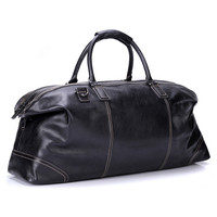 Genuine Leather Men Travel Bags Travel Luggage Man Fashion Totes Luggage Big Bag Male Crossbody Black Business Shoulder Handbag