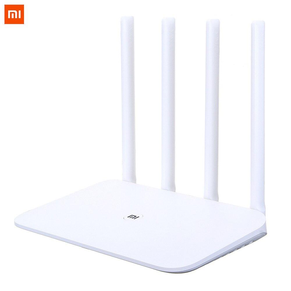 Routeur WiFi d'origine Xiao mi mi 4 répéteur WiFi 2.4G 5GHz 128 mo DDR3-1200 double bande double coeur 880MHz routeur de contrôle APP