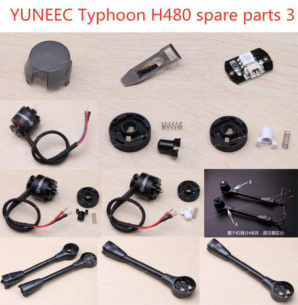 YUNEEC typhoon H480 RC Quadcopter onderdelen originele accessoires Motor Arm blade seat led lampenkap Iron kaart set
