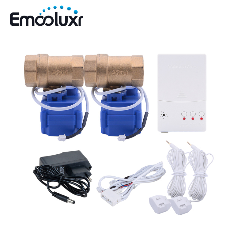 Leak Water Alarm Flood Sensor Water Leakage Detection System With Automatic Shut Off Valve 1