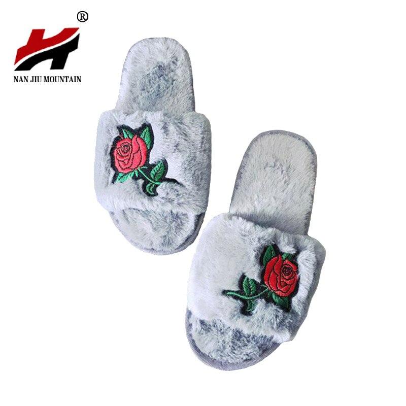 Buy 2017 autumn winter bedroom slippers - Ladies bedroom slippers with heel ...