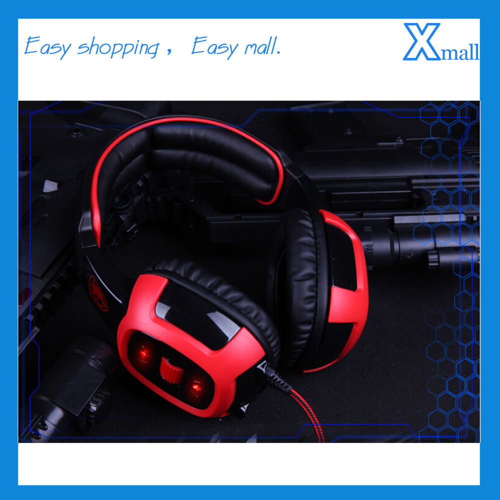 Free Shipping USB Gaming Headset Game Wired Headphones Earphone with Microphone for PC