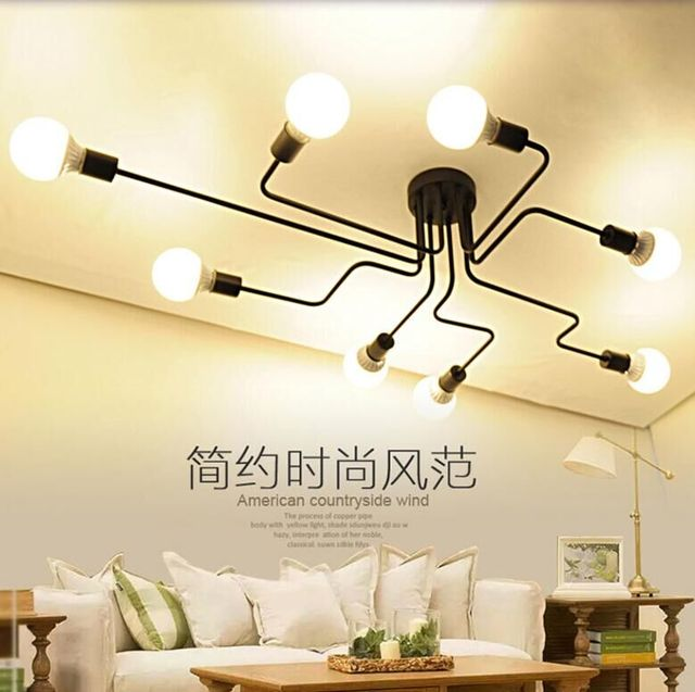 Nordic pastoral small restaurant bar living room pendant light modern glass ball branch spider clothing store pendant lamp