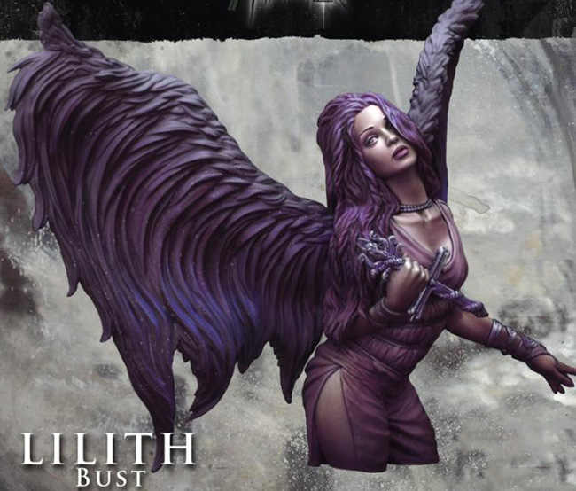 1/16 LILITH woman bust   Resin Model Miniature  figure Unassembly Unpainted