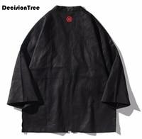 2019 summer japanese kimono cardigan men long carp print floral kimono cardigan men white japan kimono men