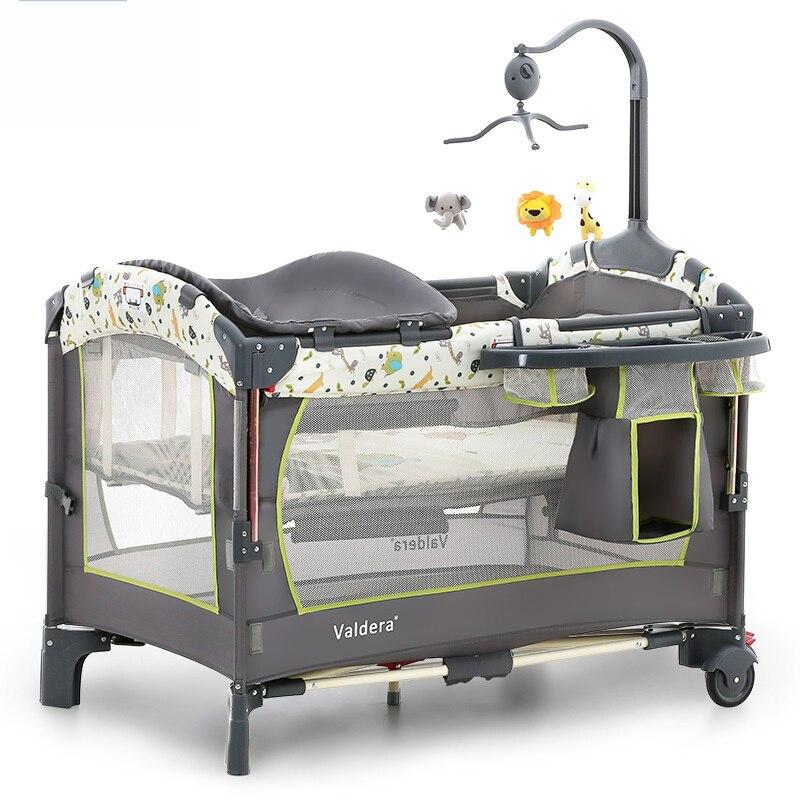 Valdera Multifonctionnel pliable lit Portatif de Mode jeu lit BB lit bébé nouveau-né lit bébé livraison gratuite