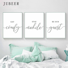 Scandinavian Style Set of 3 Wall Art Guest Room Posters and Prints Black and White  Canvas Painting Pictures Bedroom Decorations