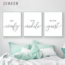 Scandinavian Style Set of 3 Wall Art Guest Room Posters and Prints Black and White Canvas Painting Pictures Bedroom Decorations(China)
