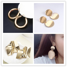 2020 Special Offer Pendientes Earing Earings Retro Geometric Earrings Contracted Woven Ring Metal Net Character Temperament
