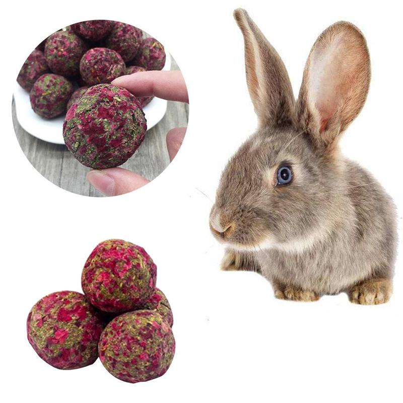 Pet Rabbit Chew Grass Ball Hamster Chew Teeth Grinding  Grass Play Toys For Pig Rabbit Chinchilla Supplies Guinea Pig Chew