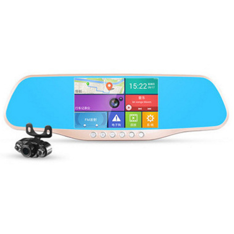1080p Dash Camera Car DVR 170 Degrees Wide Angle Car Dash Cam Driving Recorder HD Night Vision Rearview Mirror Car One Machine