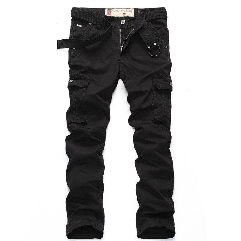 MORUANCLE décontracté hommes pantalons tactiques droits avec Multi poches Slim Fit droit Cargo pantalon pour homme survêtement 100% coton