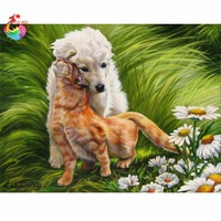 Beadwork Embroidery Painting Kit Complete Diamond Embroidery Dogs Rubik S Cube Water Mosaic Cross Stitch Crystal