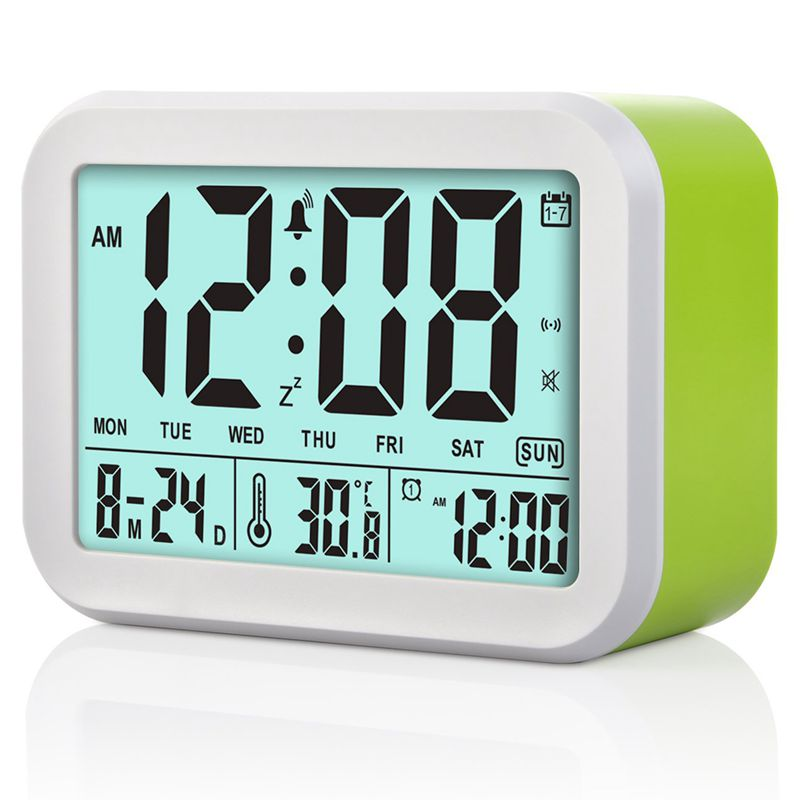 Digital Alarm Clock Talking Clock 3 Alarms Intelligent Optional Weekday Alarm Noctilucent And Snooze Function Month Date And T
