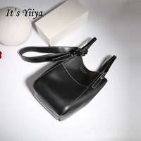 It S YiiYa 5 Colors Sales Genuine Leather Women Simple HandBag Fashion Preppy Style Messenger Bags